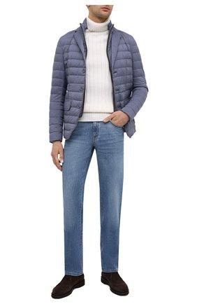 Мужская пуховая куртка HERNO синего цвета, арт. PI0633U/19288   Фото 2