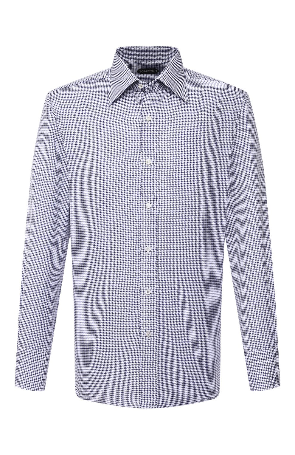 Мужская хлопковая сорочка TOM FORD синего цвета, арт. 9FT660/94C1JE   Фото 1