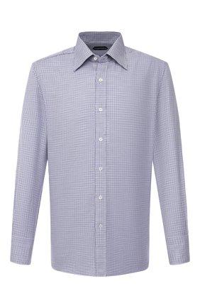 Мужская хлопковая сорочка TOM FORD синего цвета, арт. 9FT660/94C1JE | Фото 1