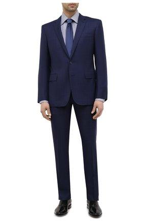 Мужская хлопковая сорочка TOM FORD синего цвета, арт. 9FT660/94C1JE | Фото 2