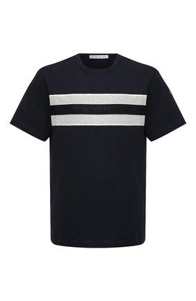 Мужская хлопковая футболка MONCLER темно-синего цвета, арт. G1-091-8C7B5-10-8390T | Фото 1