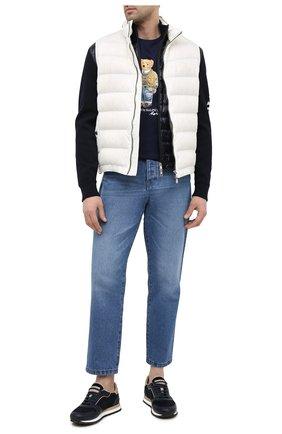 Мужская хлопковая футболка POLO RALPH LAUREN темно-синего цвета, арт. 710835761 | Фото 2