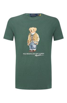 Мужская хлопковая футболка POLO RALPH LAUREN зеленого цвета, арт. 710835761 | Фото 1 (Стили: Кэжуэл; Рукава: Короткие; Материал внешний: Хлопок; Длина (для топов): Стандартные; Принт: С принтом)