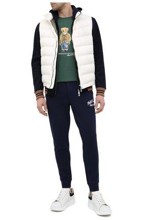 Мужская хлопковая футболка POLO RALPH LAUREN зеленого цвета, арт. 710835761 | Фото 2 (Стили: Кэжуэл; Рукава: Короткие; Материал внешний: Хлопок; Длина (для топов): Стандартные; Принт: С принтом)
