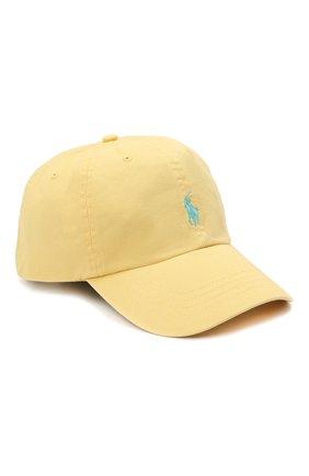 Мужской хлопковая бейсболка POLO RALPH LAUREN желтого цвета, арт. 710811338 | Фото 1