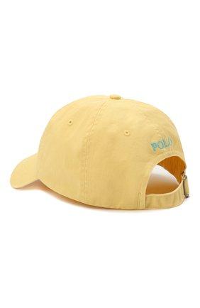 Мужской хлопковая бейсболка POLO RALPH LAUREN желтого цвета, арт. 710811338 | Фото 2