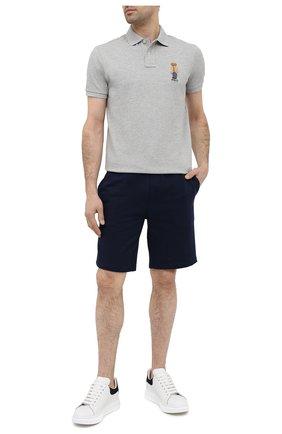 Мужские шорты POLO RALPH LAUREN темно-синего цвета, арт. 710790292   Фото 2