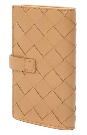 Мужская кожаный футляр для ключей BOTTEGA VENETA бежевого цвета, арт. 593025/VCPP3 | Фото 2
