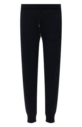 Мужские хлопковые джоггеры MONCLER черного цвета, арт. G1-091-8H730-10-809KR   Фото 1 (Стили: Спорт-шик; Длина (брюки, джинсы): Стандартные; Материал внешний: Хлопок; Мужское Кросс-КТ: Джоггеры-одежда, Брюки-трикотаж; Силуэт М (брюки): Джоггеры)