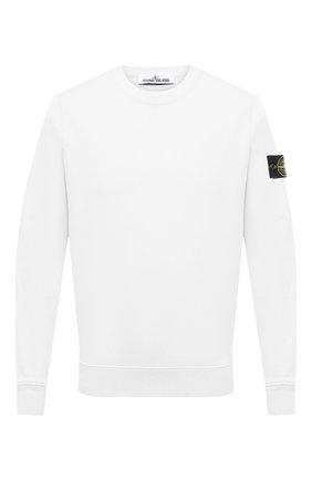Мужской хлопковый свитшот STONE ISLAND белого цвета, арт. 741563051 | Фото 1