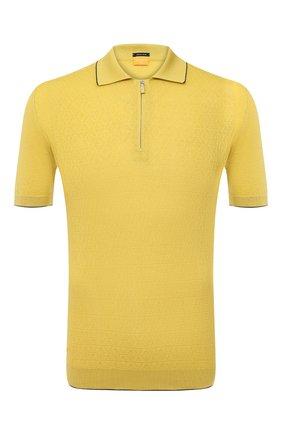 Мужское хлопковое поло SVEVO желтого цвета, арт. 46191SE20/MP46 | Фото 1