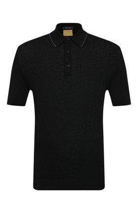 Мужское хлопковое поло SVEVO черного цвета, арт. 46198/1SE20/MP46   Фото 1
