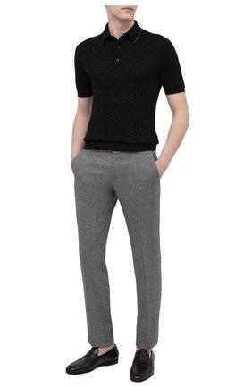 Мужское хлопковое поло SVEVO черного цвета, арт. 46198/1SE20/MP46   Фото 2