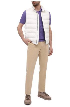 Мужское хлопковое поло SVEVO сиреневого цвета, арт. 82158SE20/MP0002 | Фото 2