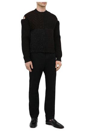 Мужские кожаные лоферы BOTTEGA VENETA черного цвета, арт. 651350/V0G80 | Фото 2 (Мужское Кросс-КТ: Лоферы-обувь; Стили: Кэжуэл; Материал внутренний: Натуральная кожа)