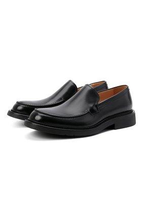 Мужские кожаные лоферы BOTTEGA VENETA черного цвета, арт. 651313/V00H0 | Фото 1