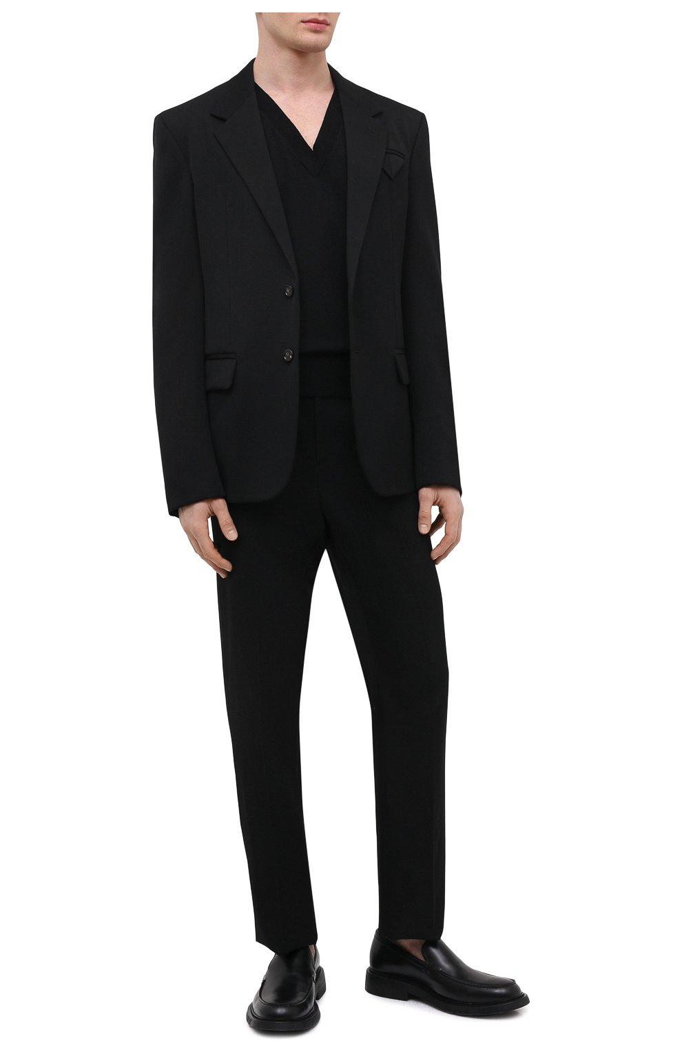 Мужские кожаные лоферы BOTTEGA VENETA черного цвета, арт. 651313/V00H0 | Фото 2