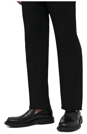 Мужские кожаные лоферы BOTTEGA VENETA черного цвета, арт. 651313/V00H0 | Фото 3