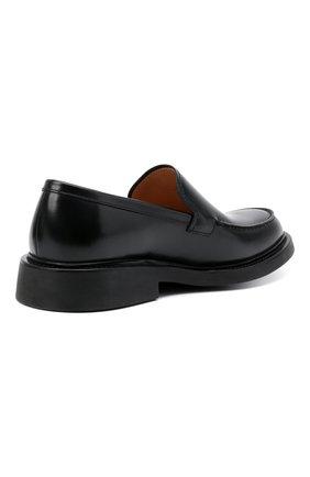 Мужские кожаные лоферы BOTTEGA VENETA черного цвета, арт. 651313/V00H0 | Фото 5
