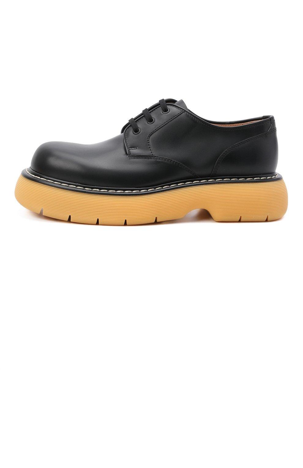 Мужские кожаные дерби bounce BOTTEGA VENETA черного цвета, арт. 651259/V00H0 | Фото 3 (Материал внутренний: Натуральная кожа; Стили: Классический)