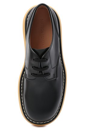Мужские кожаные дерби bounce BOTTEGA VENETA черного цвета, арт. 651259/V00H0 | Фото 5 (Материал внутренний: Натуральная кожа; Стили: Классический)
