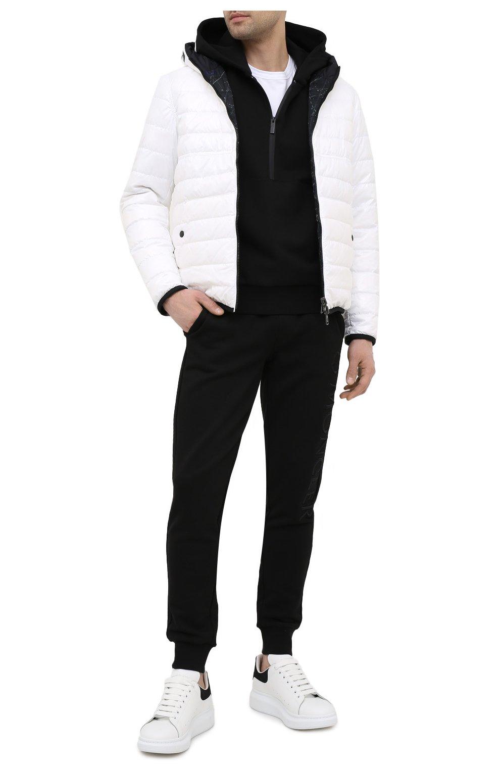 Мужские кожаные кеды ALEXANDER MCQUEEN черного цвета, арт. 625162/WHZ4K   Фото 2 (Материал внутренний: Натуральная кожа; Подошва: Массивная)