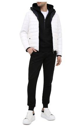 Мужские кожаные кеды ALEXANDER MCQUEEN черного цвета, арт. 625162/WHZ4K | Фото 2