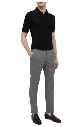 Мужские кожаные пенни-лоферы SANTONI черного цвета, арт. MCNC15609SA3ESCSN01 | Фото 2