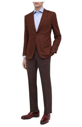 Мужские кожаные монки SANTONI бордового цвета, арт. MCCR11652MC1HVVDQ52 | Фото 2 (Материал внутренний: Натуральная кожа; Стили: Классический)