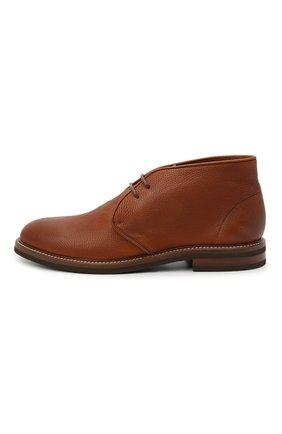 Мужские кожаные ботинки BRUNELLO CUCINELLI светло-коричневого цвета, арт. MZUCSLK192   Фото 3