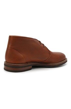 Мужские кожаные ботинки BRUNELLO CUCINELLI светло-коричневого цвета, арт. MZUCSLK192   Фото 4