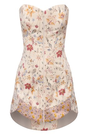 Женское шелковое платье RUBAN бежевого цвета, арт. RCSS21-78.1.52.0.3 | Фото 1