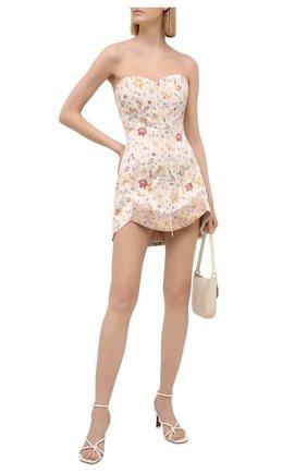 Женское шелковое платье RUBAN бежевого цвета, арт. RCSS21-78.1.52.0.3 | Фото 2