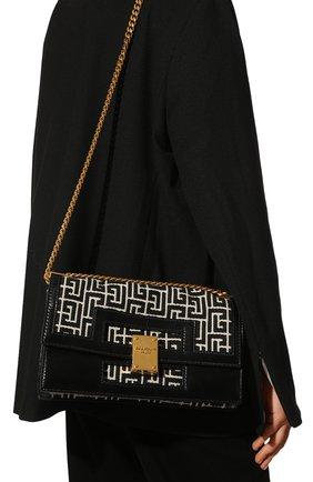 Женская сумка BALMAIN черного цвета, арт. VN1S608/TJGH | Фото 2