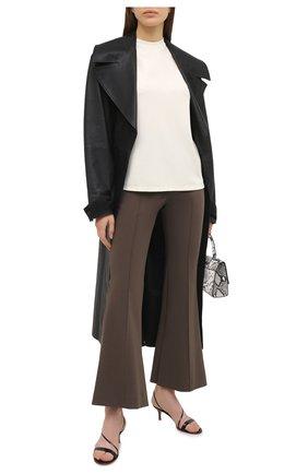 Женские кожаные босоножки manhattan GIANVITO ROSSI синего цвета, арт. G30142.55RIC.VERHAWA | Фото 2