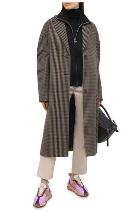 Женские текстильные кроссовки LANVIN сиреневого цвета, арт. FW-SKBRUN-NYL1-P21 | Фото 2