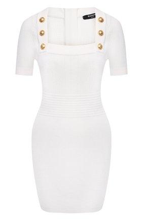 Женское платье из вискозы BALMAIN белого цвета, арт. VF16152/K211 | Фото 1