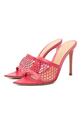 Женские кожаные мюли alisia GIANVITO ROSSI розового цвета, арт. G18210.15RIC.NGIRYR0   Фото 1