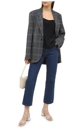 Женские кожаные босоножки amaris GIANVITO ROSSI белого цвета, арт. G31995.45RIC.VITBIAN | Фото 2