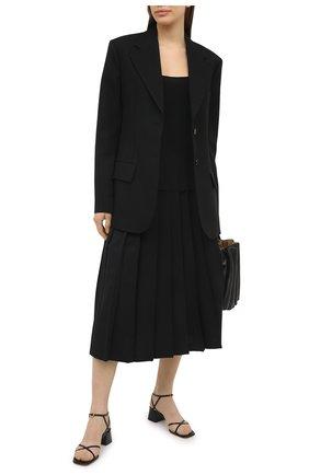 Женские кожаные босоножки amaris GIANVITO ROSSI черного цвета, арт. G31995.45RIC.VITNER0 | Фото 2