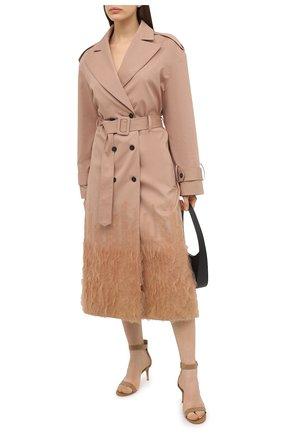 Женские кожаные босоножки portofino 70 GIANVITO ROSSI бежевого цвета, арт. G60088.70RIC.VERPRAL   Фото 2