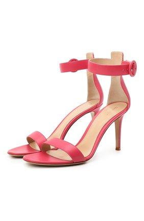Женские кожаные босоножки portofino 85 GIANVITO ROSSI розового цвета, арт. G60953.85RIC.NAPRUR0   Фото 1