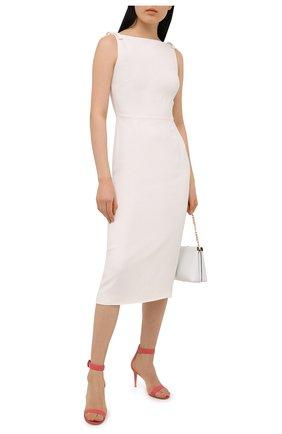 Женские кожаные босоножки portofino 85 GIANVITO ROSSI розового цвета, арт. G60953.85RIC.NAPRUR0   Фото 2