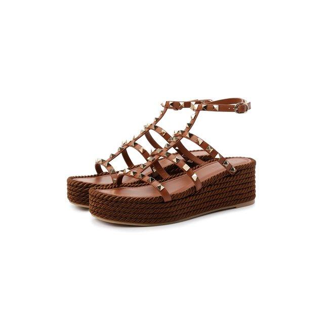 Кожаные сандалии Rockstud Torchon Valentino