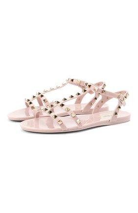 Женские сандалии valentino garavani rockstud VALENTINO светло-розового цвета, арт. VW2S0H38/PVS   Фото 1
