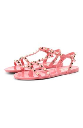 Женские сандалии valentino garavani rockstud VALENTINO розового цвета, арт. VW2S0H38/PVS   Фото 1