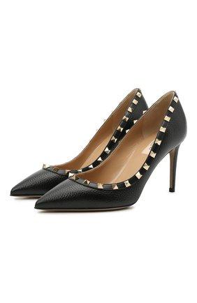 Женские кожаные туфли valentino garavani rockstud VALENTINO черного цвета, арт. VW2S0A04/VCE | Фото 1