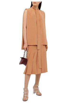 Женские кожаные босоножки valentino garavani rockstud VALENTINO белого цвета, арт. VW2S0749/VBP | Фото 2