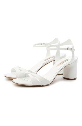 Женские кожаные босоножки felina 100 CASADEI белого цвета, арт. 1L766S0601FL0RE9999 | Фото 1