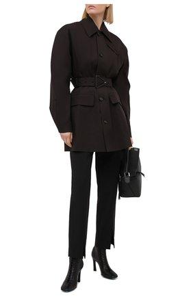 Женские кожаные ботильоны OFF-WHITE черного цвета, арт. 0WIA248E20LEA0011000 | Фото 2
